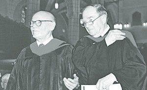 Professors Emeriti William Smith and Wendell Frerichs are recipients of the Christus Lux Mundi Award.