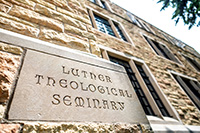 Luther Theological Seminary sign