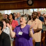participants worship at the Festival of Homiletics
